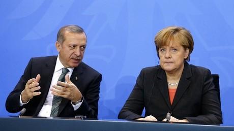 المستشارة الألمانية أنغيلا ميركل و الرئيس التركي رجب طيب أردوغان