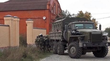 علمية لمكافحة الإرهاب في جمهورية إنغوشا الروسية (صورة أرشيفية)