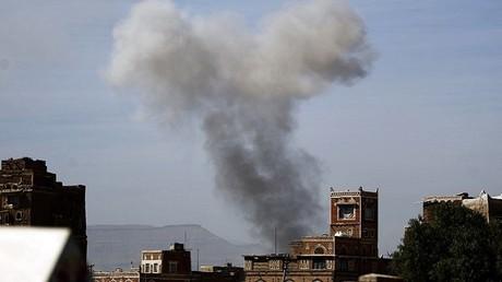 غارة جوية على صنعاء (صورة أرشيفية)