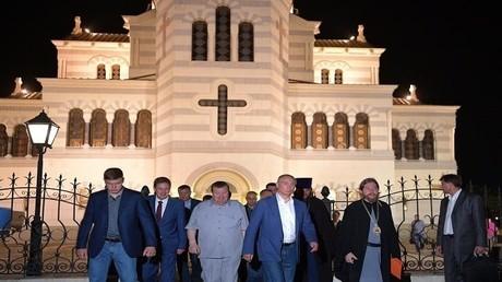 الرئيس بوتين في كاثدرائية فلاديمير في محمية تاوريس خرسون