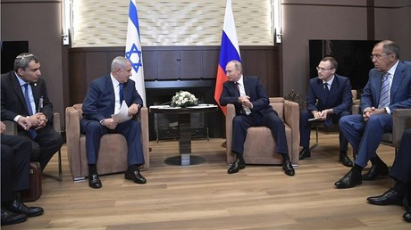 لقاء الرئيس الروسي فلاديمير بوتين ورئيس الوزراء الإسرائيلي بنيامين نتنياهو في سوتشي