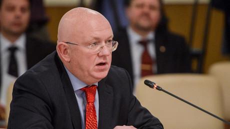 مندوب روسيا الدائم لدى الأمم المتحدة فاسيلي نيبينزيا (صورة أرشيفية)