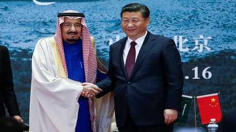 أرشيف – الرئيس شي جين بينغ والملك سلمان بن عبدالعزيز