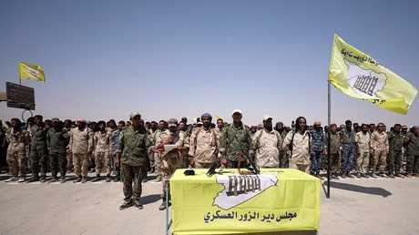عناصر من مجلس دير الزور العسكري تقاتل في صفوف قوات سوريا الديمقراطية