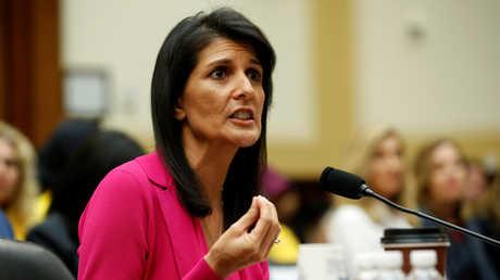 المندوبة الأمريكية لدى الأمم المتحدة نيكي هايلي
