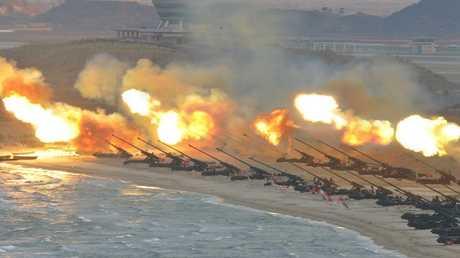 أرشيف - تدريبات عسكرية في كوريا الشمالية