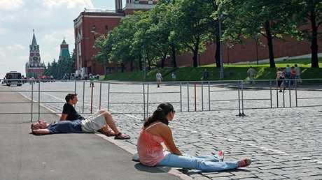 الحر في موسكو