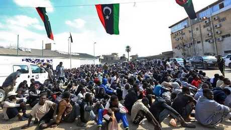أسواق علنية لبيع الرقيق في ليبيا