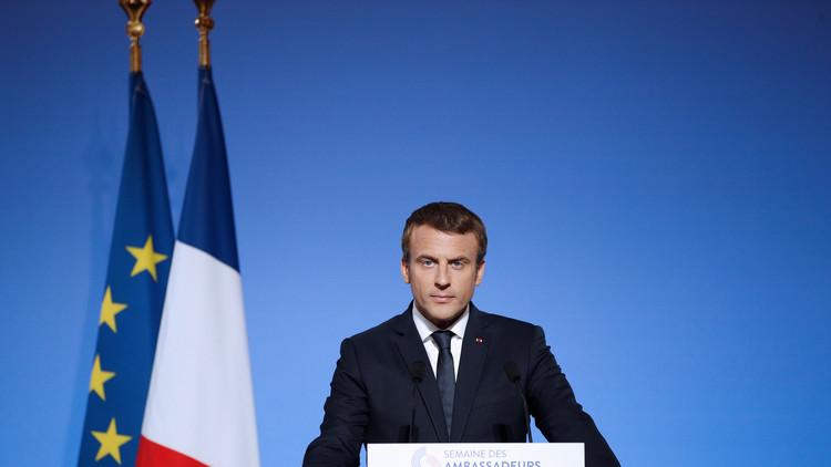 ماكرون يحدد أولويات فرنسا السياسية الخارجية