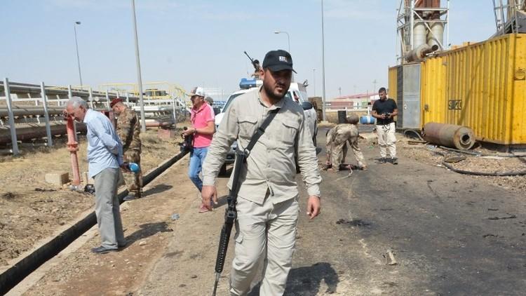 القوات الأمنية في موقع الهجوم بسامراء