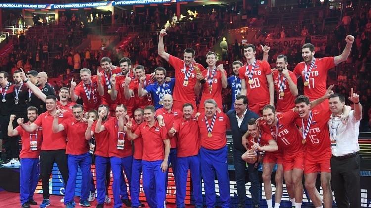 روسيا تتوّج بذهبية أوروبا لكرة الطائرة