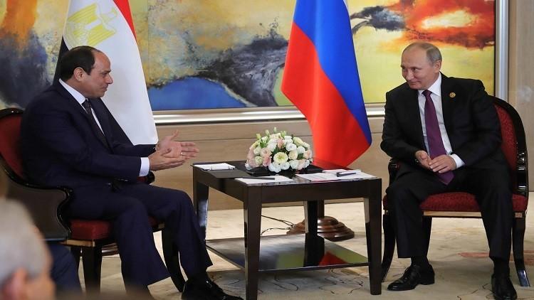 بوتين والسيسي يشيدان بما حققته مصر في مجال أمن الطيران