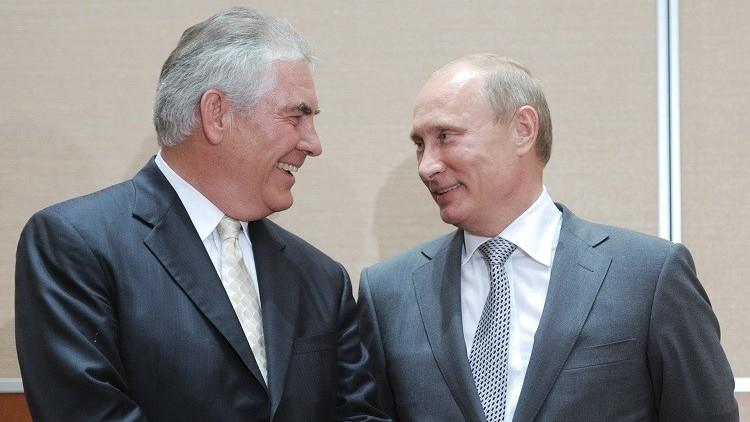 بوتين: تيلرسون وقع في شلة من