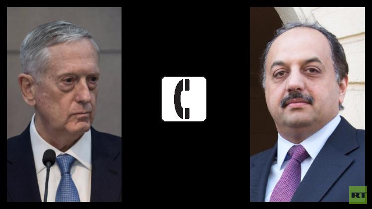 ماتيس والعطية يبحثان الأزمة الخليجية