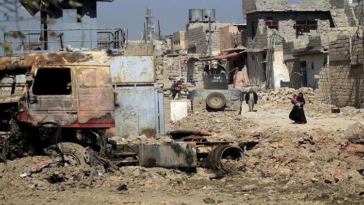 أرشيف - الدمار في الموصل بعد تحريرها من داعش - العراق