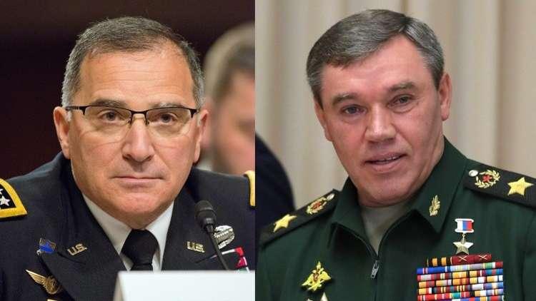 قائد هيئة الأركان الروسية يطمئن قائد الناتو في أوروبا