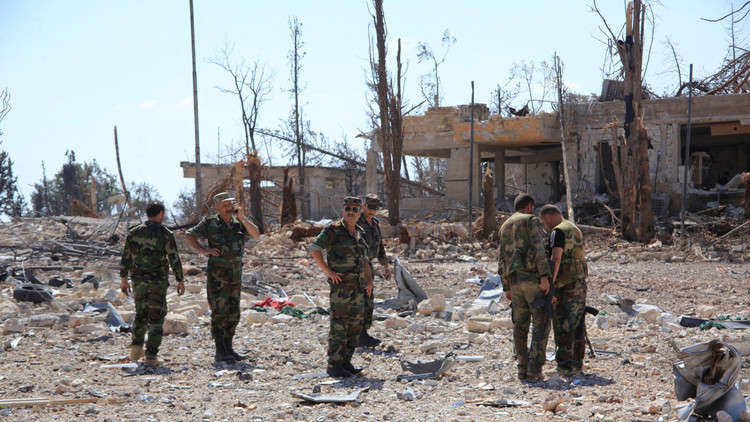 انفجارات ضخمة في مطار التيفور العسكري وسط سوريا