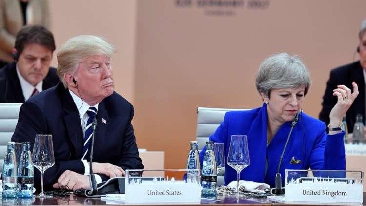 ترامب وماي يحثان الصين للضغط على كوريا الشمالية