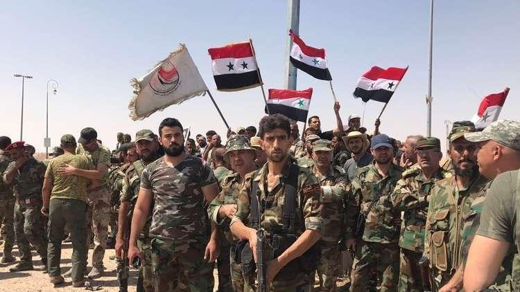 استسلام مجموعة من الدواعش للجيش السوري في دير الزور