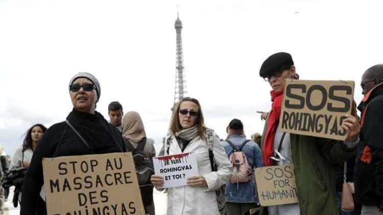 تظاهرات في باريس تطالب المجتمع الدولي بحماية