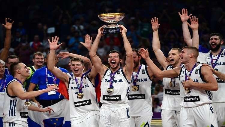 المنتخب السلوفيني يتوّج ببطولة أوروبا لكرة السلة