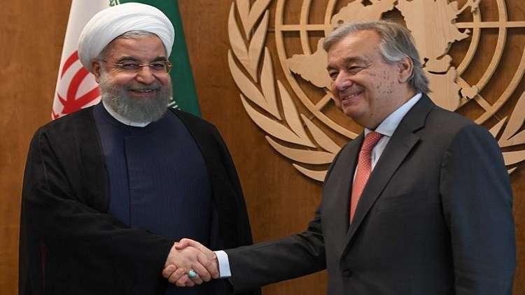 روحاني يدعو الأمم المتحدة لصون وحدة العراق
