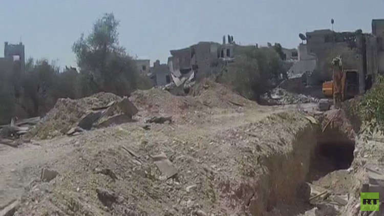 اكتشاف نفق طوله 50 كلم حفره المسلحون في غوطة دمشق