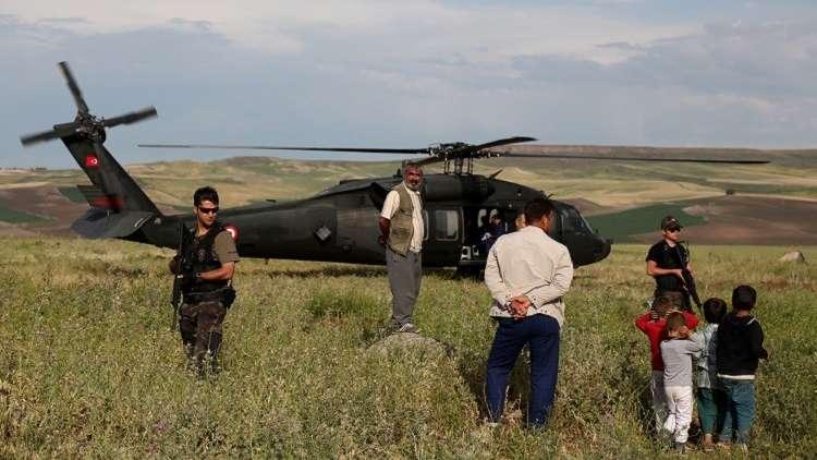 مروحة طائرة تركية تقتل شرطيا وتصيب آخر!