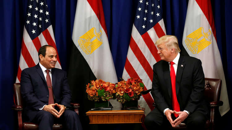 ترامب: سننظر بالتأكيد في استئناف المساعدات العسكرية لمصر