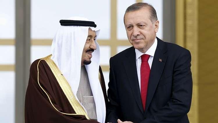 أردوغان والملك سلمان يبحثان سوريا واستفتاء كردستان وأزمة قطر