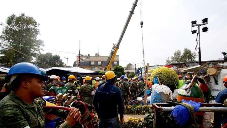 ارتفاع حصيلة قتلى زلزال المكسيك إلى 286