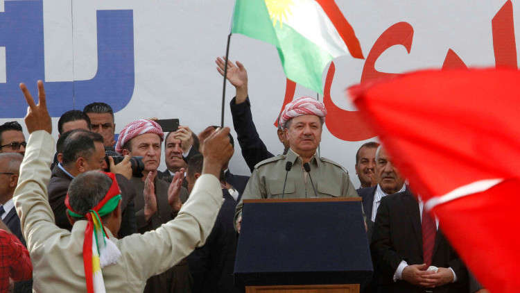 برزاني يطالب سكان كردستان بالتصويت الاثنين على استفتاء الانفصال عن العراق