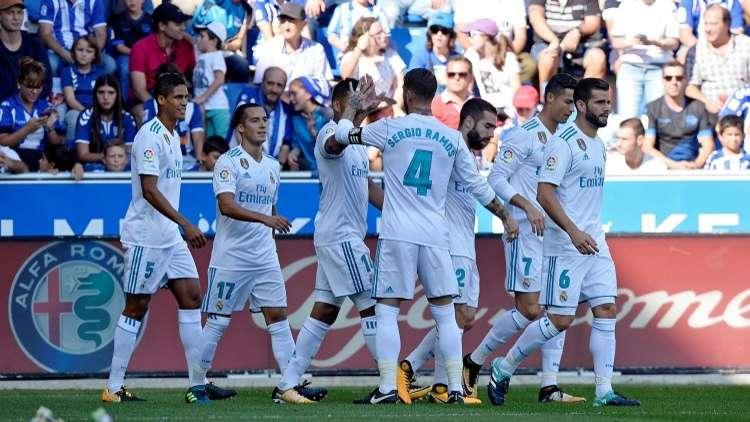 شاهد.. سيبايوس يسجل باكورة أهدافه مع ريال مدريد