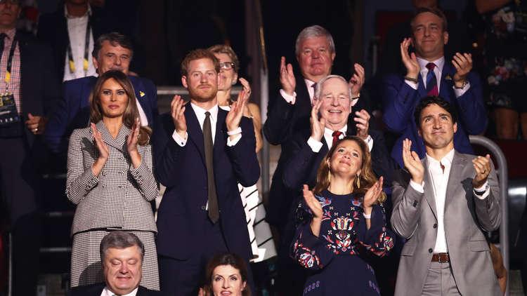 ميلانيا ترامب تتقابل مع الأمير هاري