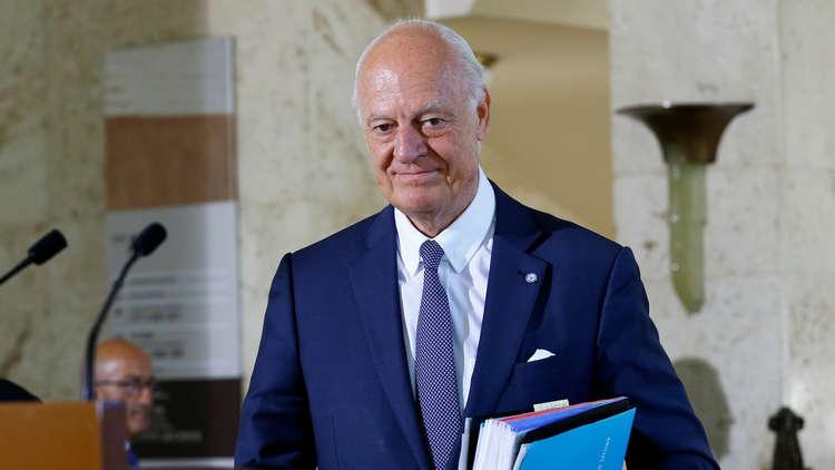 دي ميستورا: جولة جديدة من مفاوضات جنيف في نهاية الشهر المقبل
