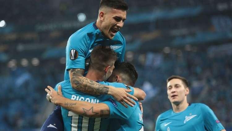 زينيت يقسو على  ريال سوسييداد في الدوري الأوروبي