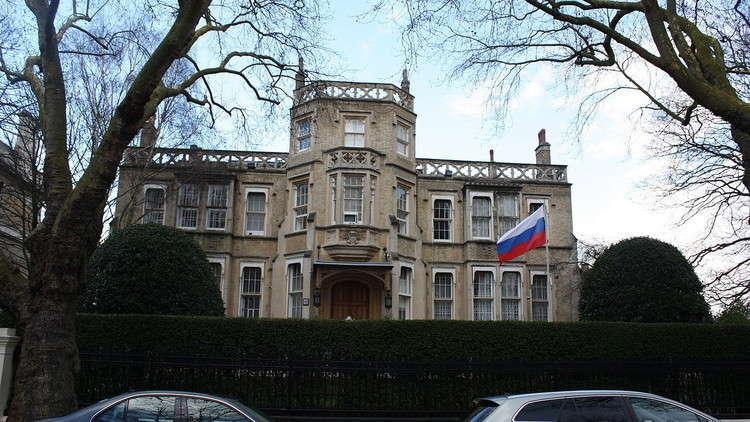 السفارة الروسية في بريطانيا: تصريحات ماي مرفوضة