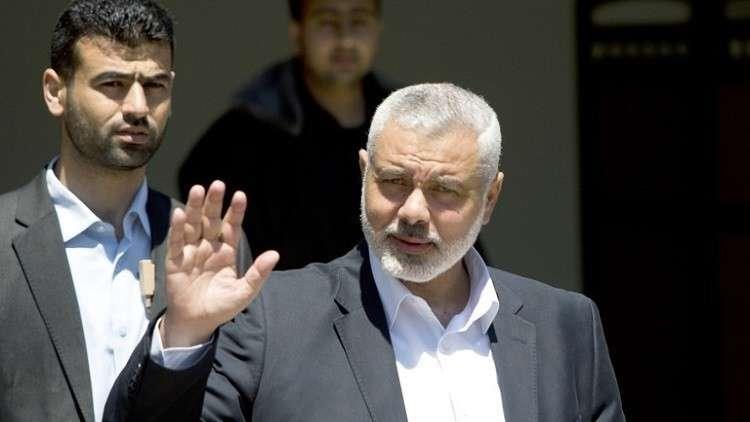 هنية يوجه رسالة إلى الشعب الفلسطيني