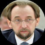 رئيس مفوضية الأمم المتحدة لحقوق الانسان زيد رعد الحسين