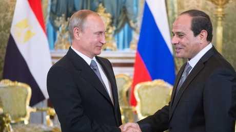 الرئيسان الروسي فلاديمير بوتين والمصري عبد الفتاح السيسي (صورة أرشيفية)