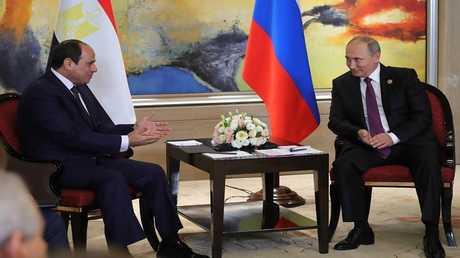 الرئيسان الروسي فلاديمير بوتين والمصري عبد الفتاح السيسي