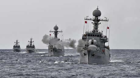 مناورات بحرية كورية جنوبية