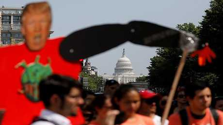 """متظاهرون ضد قانون يلغي برنامج """"دريميرز"""""""