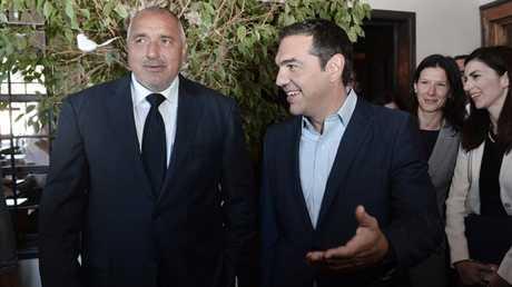 رئيس الوزراء اليوناني الكسيس تسيبراس  ونظيره البلغاري بويكو بوريسوف