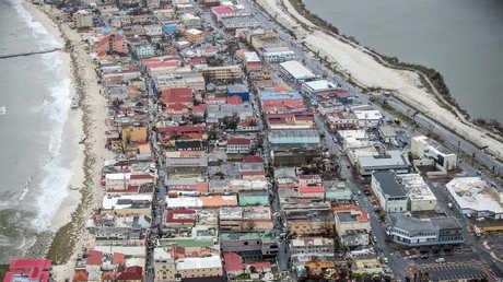 تداعيات إعصار إرما في جزيرة سان مارتان
