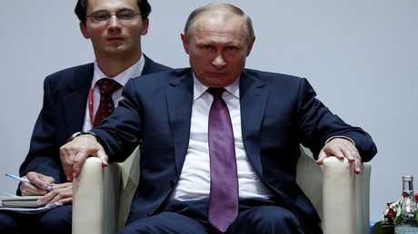 7 سبتمبر 2017 الرئيس الروسي فلاديمير بوتين يشاهد مباراة للجودو في افتتاح مسابقة ليجورو كانو الأولى للجودو على هامش مؤتمر الشرق الاقتصادي.