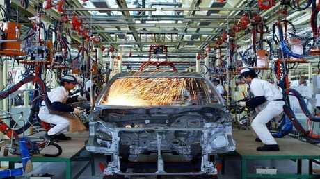 أرشيف - خط إنتاج سيارات هوندا