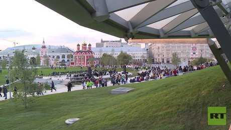 موسكو.. افتتاح حديقة غناء بجوار الكرملين