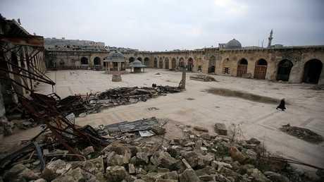 المسجد الأموي في حلب، 31 يناير 2017 - سوريا