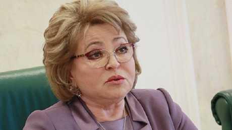 رئيسة مجلس الاتحاد الروسي (مجلس الشيوخ) فالنتينا ماتفيينكو
